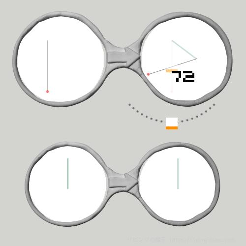 正五角形を描くメガネ
