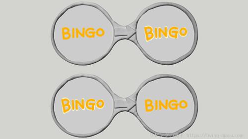 点滅する文字のメガネ